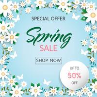 Frühlingszeit blüht Verkaufshintergrund