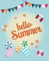 Sommarförsäljning banner och bakgrund