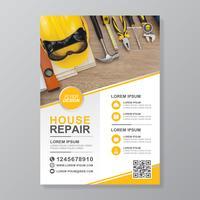 Byggverktyg täcker a4 mall och plana ikoner för en rapport och broschyrdesign, flygblad, banner, broschyrer dekoration för tryck och presentation vektor illustration