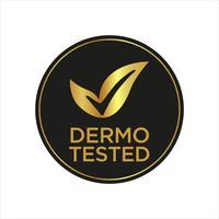 Dermatologiskt testad ikon