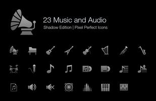 Musik und Audio Pixel Perfect Icons Shadow Edition.