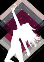 Weibliches Schattenbild auf einem abstrakten Hintergrund vektor