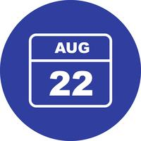 22. August Datum für einen Tagkalender