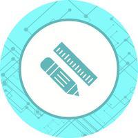 Bleistift & Lineal Icon Design vektor