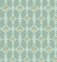 Blumenfliesenmuster. Retro-Verzierung aus Brokat. Gedeihen Blätter Kulisse vektor