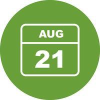 Datum des 21. August für einen Tageskalender