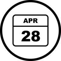28. April Datum an einem Tageskalender