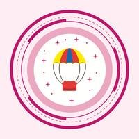 Air Balloon Icon Design