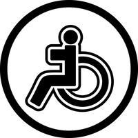 Behinderte Icon Design vektor