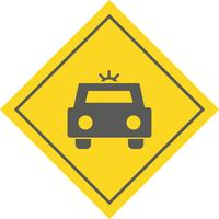 Polizeiauto-Icon-Design