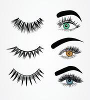 Falska ögonfransar Styles Vector Pack
