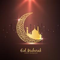 Abstrakt Eid Mubarak Islamisk religiös bakgrund