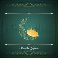 Islamischer Grußhintergrund des abstrakten Ramadan Kareem