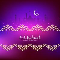 Islamischer religiöser Hintergrund des abstrakten Eid Mubarak