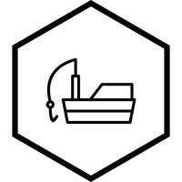 Fischerboot-Icon-Design