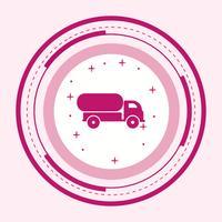 Tankwagen-Icon-Design vektor