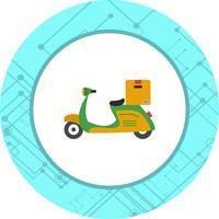 Lieferung Motorrad Icon Design