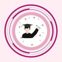Grad Icon Design erhalten