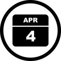 4. April Datum für einen Tagkalender