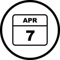 7. April Datum für einen Tagkalender