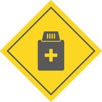 Medizin-Flaschen-Icon-Design