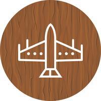 Kampfjet Icon Design vektor