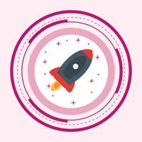 raket ikon design vektor