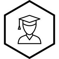 manlig student ikon design vektor