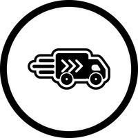 Leverans Truck Icon Design