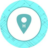 sjukhus plats ikon design vektor