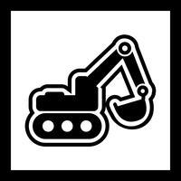 Grävmaskin Icon Design
