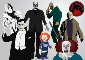 Horror-Berühmtheiten vektor