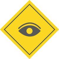 Augensymbol Design vektor