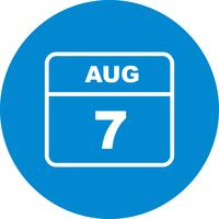 7. August Datum für einen Tageskalender