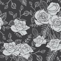 Rose Seamless Pattern, nahtloses Muster der Blume, nahtloses Vektormuster
