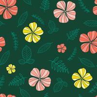 nahtloses Muster der Blume, Blumenmuster