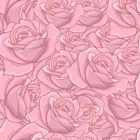 Rose Seamless Pattern, nahtloses Muster der Blume, nahtloses Vektormuster mit Blumen, Blumenhintergrund, rosafarbene Beschaffenheit. geeignet zum bedrucken von textilien vektor