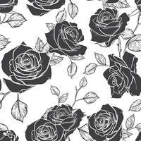 Rose Seamless mönster, blomma sömlösa mönster, vektor blommigt sömlöst mönster