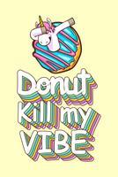 süße Einhorn und Donuts Zitate vektor