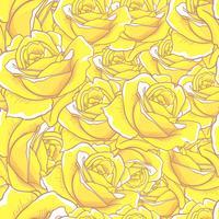 Rose Seamless Pattern, nahtloses Muster der Blume, nahtloses Vektormuster vektor