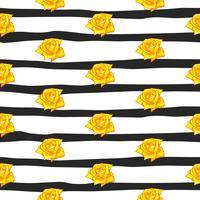 blomma ros sömlösa mönster, vektor blommig ros sömlösa mönster, blomma bakgrund