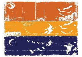 Grungy Halloween Banner Vektoren