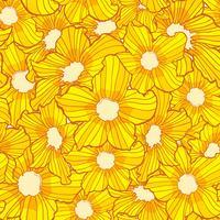 blomma sömlösa mönster, blomma bakgrund konsistens, blommor sömlösa mönster vektor