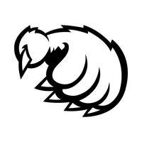 Grizzlybärentatze-Vektorillustration vektor
