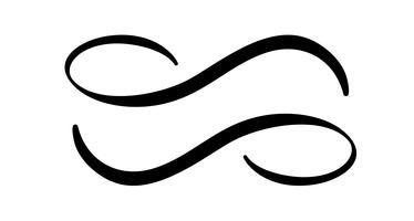 Infinity kalligrafi vektor illustration symbol. Evigt gränslöst emblem. Svart mobius band silhuett. Modern penselsträcka. Cykel oändligt liv koncept. Grafiskt designelement för kort och logotatuering