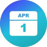 1 april Datum på en enkel dagskalender