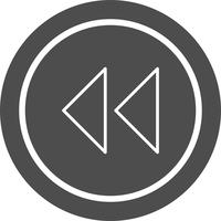 Rückwärts-Pfeil-Icon-Design vektor