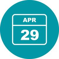 29 april Datum på en enkel dagskalender