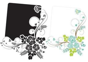 Floral Swirly Banner Vektor Pack