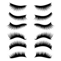 Wimpern-Clipart-Set